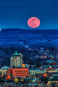 Pink Moon over Traverse